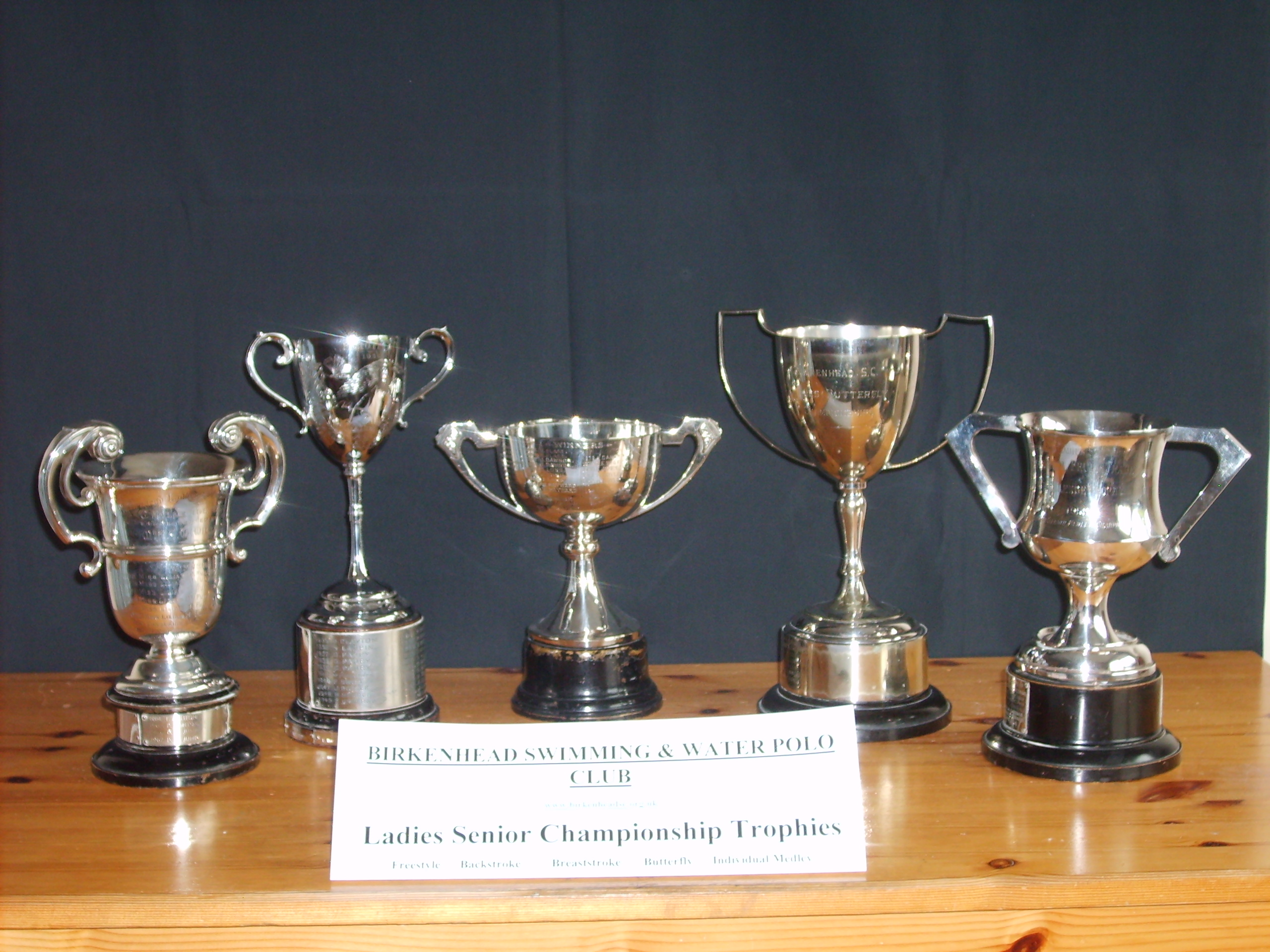 Ladies Senior Championship Trophies